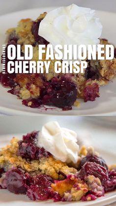 Sweet Cherry Recipes, Cherry Desserts, Gourmet Desserts, Fruit Recipes, Easy Desserts, Sweet Recipes, Cooking Recipes, Nutella Recipes, Gluten Free Cherry Crisp Recipe