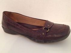LifeStride Shoes Womens Size 7 W Brown Loafers Diary Flats 7W Wide #LifeStride #LoafersMoccasins #WeartoWork