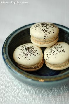 Earl Grey Macarons. I'm not a fan of Earl Grey, but can make these with any other tea.