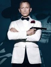 James Bond Bridge Coat from Spectre is here. Daniel Craig got the chance to wear this James Bond Overcoat and now is your turn. Casino Royale Dress, Casino Dress, Casino Outfit, Ivory Tuxedo, White Tuxedo, Ivory White, Groom Tuxedo, James Bond Tuxedo, Wearing A Tuxedo