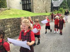 Year One and Two were explorers on Thursday! They explored the school grounds using their maps to help them.
