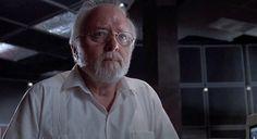 Richard Attenborough falando droga, em Jurassic Park