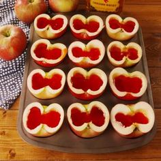 Apple Jell-O Shots Fireball lovers: This is the BEST thing to do with apples this fall.Fireball lovers: This is the BEST thing to do with apples this fall. Holiday Drinks, Party Drinks, Summer Drinks, Fun Drinks, Alcoholic Drinks, Shots Drinks, Liquor Shots, Beverages, Mixed Drinks