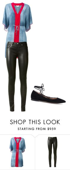 """""""Untitled #2504"""" by ania18018970 ❤ liked on Polyvore featuring Fendi, Yves Saint Laurent and Gianvito Rossi"""