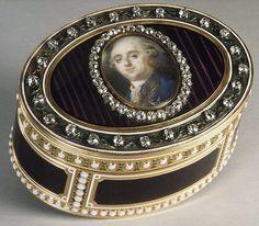 Snuffbox with portrait of Louis XVI (1754–1793), King of France, 1779-80, portrait by Louis-Marie Sicardi (1743-1825), box by Joseph-Etienne Blerzy (1750-1806)