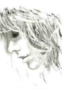 MELANCHOLY - WOMAN PORTRAIT - GIFT by Nicolas GOIA