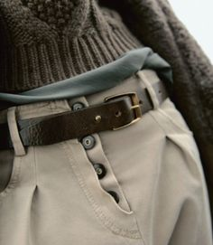 Incredible to see the return of khakis, especially the pleated editions. Very cool detailing with the buttons.