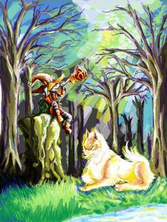 Nice game mix art of OOT/MM/TP