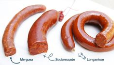 La tradition charcutière est riche quand on parle de Saucisses. découvrons les classiques (chipolatas, merguez) et les spécialités (soubressade, longanisse) Charcuterie, Le Boudin, Sauce, Brunch, Meat, Cooking, Foie Gras, Google, Pork