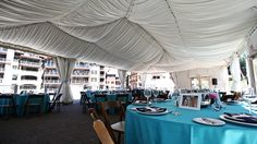 Wedding reception in a tent on the Overlook Pavilion. Northstar California in Lake Tahoe. #mountainwedding