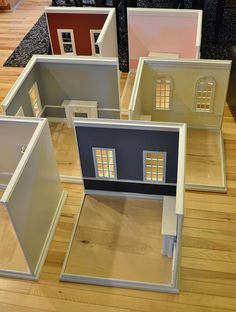 Interior Design Colleges, Interior Design Programs, Barbie House Furniture, Doll Furniture, Miniature Rooms, Miniature Crafts, Cardboard Crafts Kids, Cardboard Dollhouse, Christmas Shadow Boxes