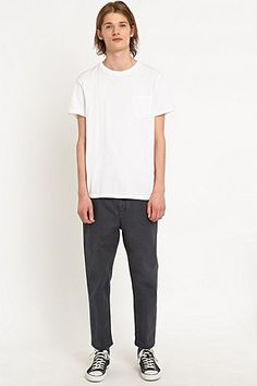 Cheap Monday Work Chinos in Washed Navy