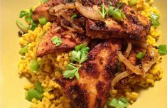 My Chile-Rubbed Tofu and Onions over Spanish Rice is a delicious meal. It's got rice, it's got spice. It's vegan and gluten-free. It's perfect. Enjoy!