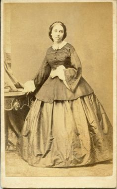 Young woman by Angerer, Vienna  CDV, 1860
