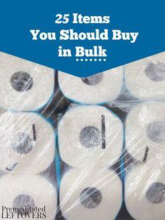 25 Items You Should Buy in Bulk