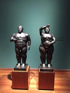 Escultura de Botero Adão e Eva