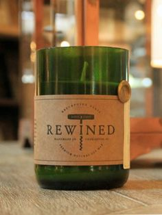 Recycled Wine Bottle 60-80 Hour Soy Wax Candle