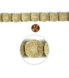 Burlap-covered beads from Blue Moon Beads!