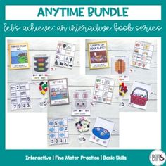 Interactive books are a great way to teach and practice basic skills. These books feature a variety of pre-academic and fine motor tasks. Use interactive books to keep your children or students actively engaged in work through the use of a creative theme and a structured set of activities.This Anyti...