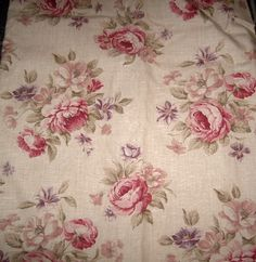 Pretty Shabby Chic Style Marks Spencers Cabbage Rose Fl Curtains Ebay