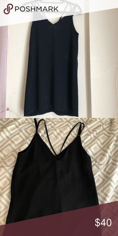 Top shop slip dress Worn once, I accidentally bought petite size Topshop Dresses Mini