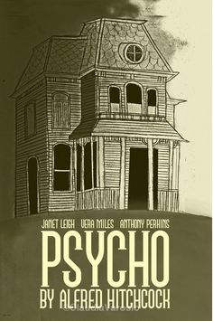 Film poster Psycho retro print in various sizes Minimal Movie Posters, Horror Movie Posters, Cinema Posters, Horror Movies, Comedy Movies, Scary Movies, Good Movies, Hitchcock Film, Alfred Hitchcock
