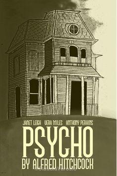 Psycho Minimalist Poster Movie