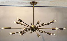 Mid-Century-Modern-Brass-Sputnik-atomic-chandelier-starburst-light-Fixture
