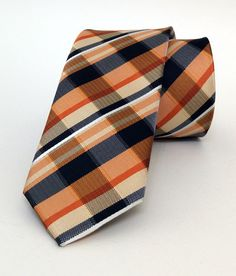 Orange Mens Tie 6 cm (2,36 #handmadeatamazon #nazodesign
