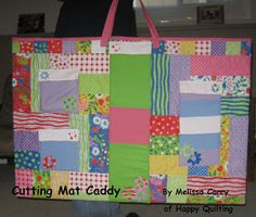 "Moda Bake Shop: Cutting Mat Caddy (rotary mat bag for 24"" x 36"" mat) - instructions included"