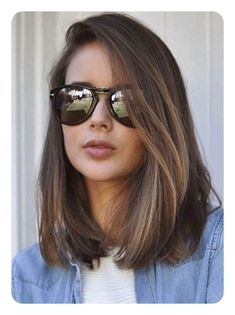 76 Long Bob Hairstyles That You'll Surely Love Low Maintenance Haircut, Haircut For Thick Hair, Haircut Medium, Long Bob Hairstyles For Thick Hair, Hairstyle Short, Haircut For Medium Length Hair, Hairstyles Haircuts, Retro Hairstyles, Celebrity Hairstyles
