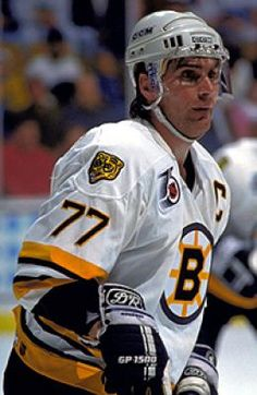 Ray Bourque - Boston Bruins. I remember when he played for the Colorado Avalanche, and they won the Stanley Cup and Joe Sakic handed the Cup to Ray. What a day! I think it was Ray's last day to play.