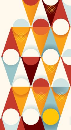 Hansen's Ice Cream by Mads Berg, via Behance