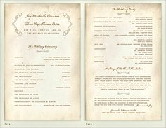 30 Wedding Program Design Ideas To Guide Your Wedding Guests – Part III