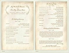 wedding program guide car owners manual