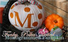 DIY Monogrammed Pumpkins