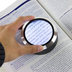 Low Assistive Technology that helps enlarge text for students with low vision Satechi ReadMate LED Desktop Magnifier (Black)