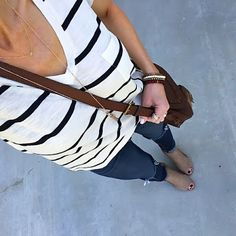 Striped Tee + Jeans | On the Daily EXPRESS - Instagram: @ontheDailyX