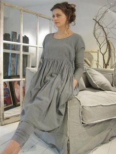 PRIVATSACHEN cocon commerz sustainable clothes since 30 years linen eco cotton silk peace silk hemp soma tencel lyocell. Baggy Dresses, Linen Dresses, Mode Plus, Mode Boho, Vestidos Vintage, Mode Outfits, Mode Inspiration, Sewing Clothes, Look Fashion