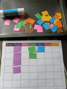 For K, I would use a non-color coded recording sheet for practice reading color words, and add a graph analysis activity.