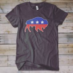 It's National Bison Day! Grab an American Bison shirt from The Wild America Collection from statelyshirtco.com #statelyshirts #statelyshirtc #bison #wildamerica