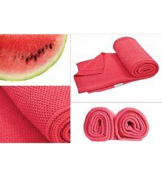 Kocyk tkany z bawełny organicznej Poofi arbuzowy