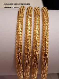 bathroom accessories in gold Plain Gold Bangles, Gold Bangles For Women, Gold Bangles Design, Gold Earrings Designs, Gold Jewellery Design, Indian Gold Bangles, Silver Bracelets, Designer Bangles, Gold Designs