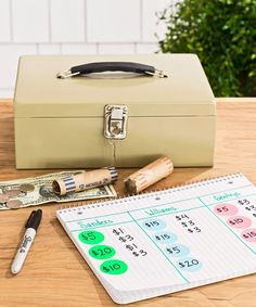 Maximize your efforts by joining up with neighbors to have several sales on one street or combine wares at one location. For the latter, assign each family different colored price stickers; stick tags on a tally sheet as items sell (jot down smaller buys in the same column). For any sale, stock a money box or bag with enough change (a roll of quarters, 25 $1 bills, and a few $5 and $10 bills) — and keep it in sight.  - GoodHousekeeping.com