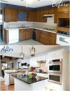 50 This Brass And Marble Kitchen Makeover Stands the Test of Time 3 – diy kitchen decor on a budget Small Kitchen Renovations, Budget Kitchen Remodel, Kitchen On A Budget, New Kitchen, Kitchen Ideas, Kitchen Counters, Island Kitchen, Kitchen Cupboard, Kitchen Layout