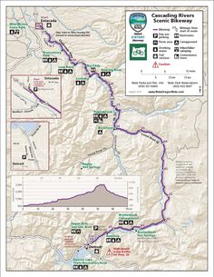 Cascading Rivers Scenic Bikeway, by the Oregon State Parks and Recreation Department
