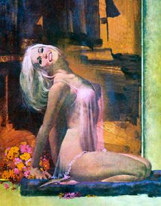 "Robert McGinnis The artwork appeared on the cover of a Carter Brown paperback titled ""Die Anytime After Tuesday""