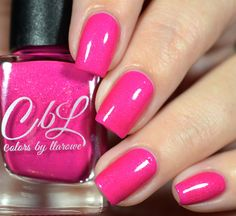 CbL The Journey Collection 2016 - Brighter Days is a neon pink crelly base with a strong copper to pink to gold shimmer. This polish will dry semi matte. Add top coat to intensify shimmer. Swatch by @shannasnailsadventures on Instagram.