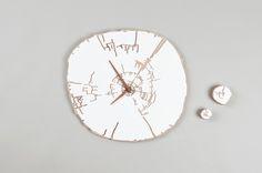 Cross-section-cut clock by Allt Studio