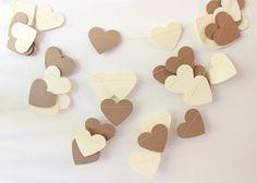 Rustieke bruiloft Decor, Garland, hart Garland, Decor van de bruiloft, bruiloft Garland, Shabby bruiloft, papier hart Garland, jute & Lace
